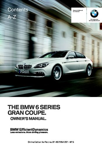 bmw 650i owners manual download