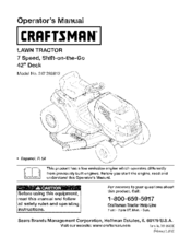free manual download for 247255870 craftsman lawn tractor