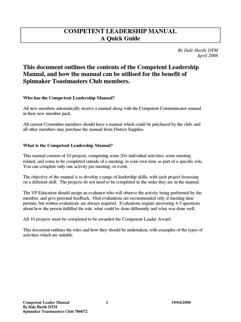 toastmasters competent communicator manual pdf download