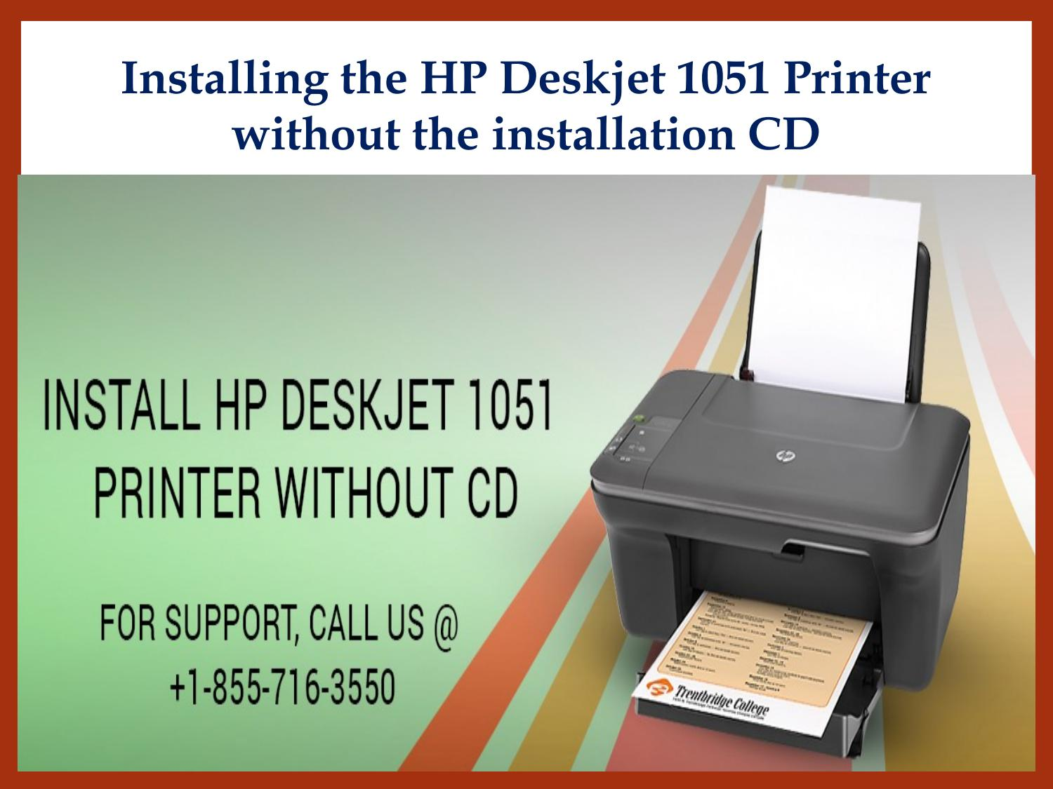 manual install of a hp deskjet 1051 without disk