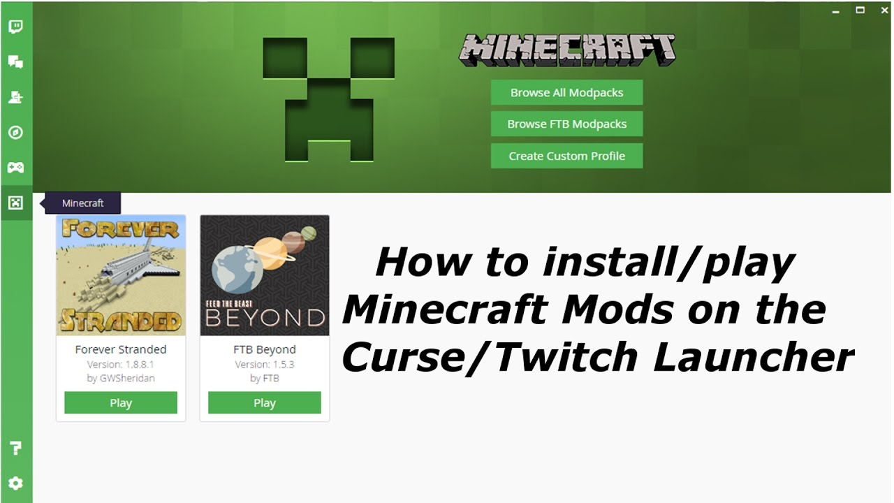 manually downloading modpacks for twitch launcher